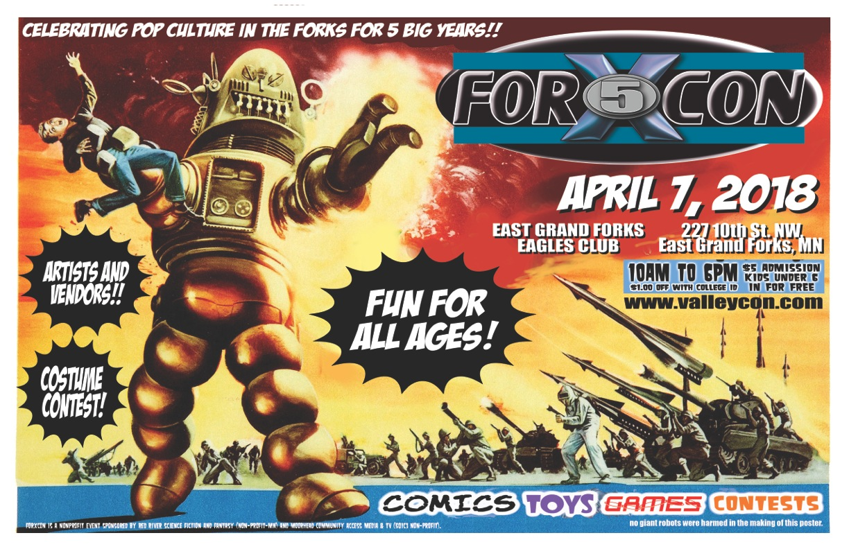Forxcon in East Grand Forks, MN - April 7th, 2018 at East Grand Forks Eagles Club